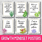 Succulent Classroom Decor, Growth Mindset Posters, Back to School Bulletin Board