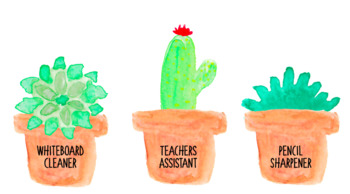 Succulent Classroom Jobs - Editable