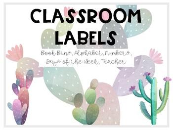 Succulent Classroom Labels