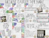 Succulent Classroom Theme Bundle