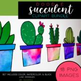 Succulent Clipart Bundle