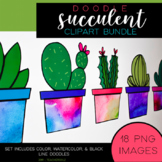Succulent Clipart Bundle