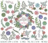 Succulent Clipart, Succulent Clip Art, Cactus Clipart, Cactus Clip Art