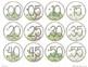 Succulent Clock Labels