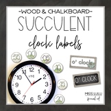 Succulent Clock Labels