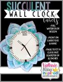 Succulent Clock Number Labels