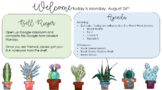 Succulent Daily Agenda PowerPoint Template