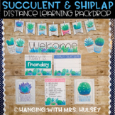Succulent Distance Learning Backdrop Decor