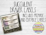 Succulent Drawer Labels