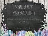 Succulent Farmhouse Chic- Classroom Decor Kit