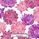 Succulent Flower Watercolor Clip Art - Pink and Purple