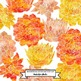 Succulent Flower Watercolor Clip Art - Red and Orange