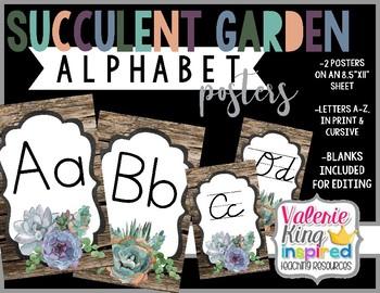 Succulent Garden Collection: Alphabet Posters (Succulent Farmhouse)
