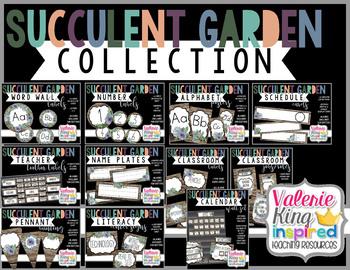 Succulent Garden Collection: Classroom Decor Bundle (Succulent Farmhouse)