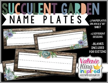 Succulent Garden Collection: NamePlates (Succulent Farmhouse)