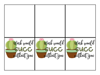 Succulent Gift Tags Freebie