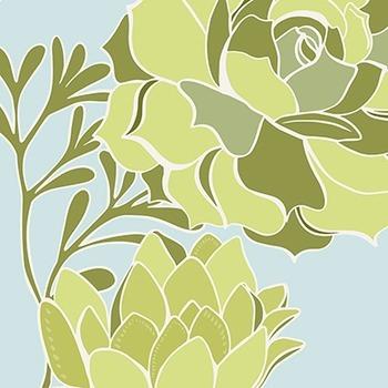 Green Succulents ClipArt Flowers, Cactus Foliage