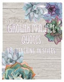 Succulent Growth Mindset Quotes