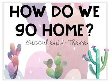 Succulent How Do We Go Home Chart