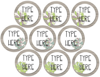 Succulent Labels {Editable}