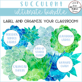 Succulent Labels and Classroom Tools Bundle