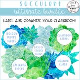 Succulent Labels and Classroom Tools Bundle
