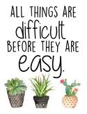 Succulent Motivational Posters