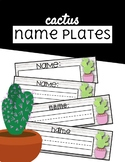 Cactus Name Plates - Freebie!