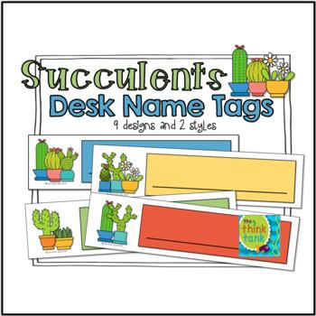 Succulent Name Tags (Desk Plates)