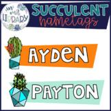 Succulent Nametags