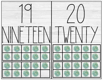 Succulent Number Posters 0-20