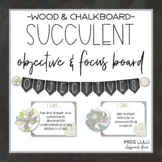 Succulent Objectives & Focus Board {Editable}