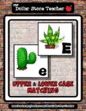 Succulent Plants - A to Z Upper & Lower Case Matching Cards *o