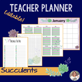 Succulent Printable Planner/ Editable/ FREE UPDATES/ Back to School
