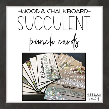 Succulent Punch Cards {Editable}