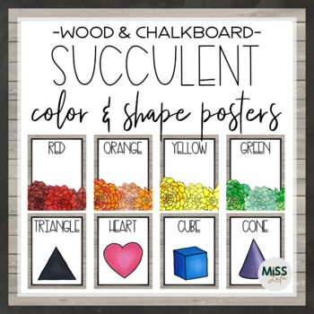 Succulent Shape and Color Posters
