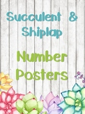 Succulent & Shiplap Number Posters