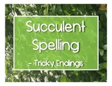 Succulent Spelling - Tricky Endings (-ge/-dge, -ch/-tch)