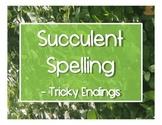 Succulent Spelling - Tricky Endings