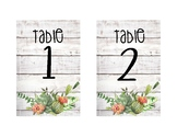 Succulent Table Numbers 1-6