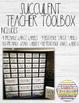 Succulent Teacher Organization Bundle