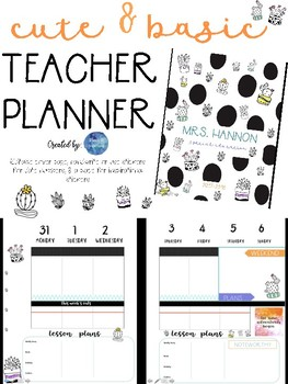Succulent Teacher Planner