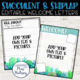 Succulent Teacher Welcome Letters (Editable)