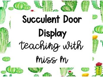 Cactus Theme Door Display with Editable Labels #ausbts18
