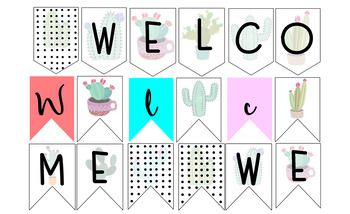 #ausbts18 Succulent Theme EDITABLE Welcome Bunting