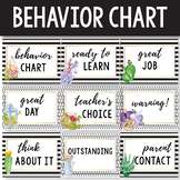Behavior Chart Editable - Succulent Classroom Decor - Cact