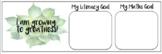 Succulent Theme Goal Setting Cards
