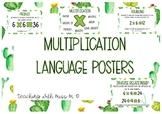 Succulent Theme Multiplication Language Posters #ausbts18