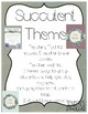 Succulent Theme Teacher Tool Kit