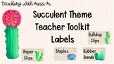 Succulent Theme Teacher Toolkit with editable PowerPoint #
